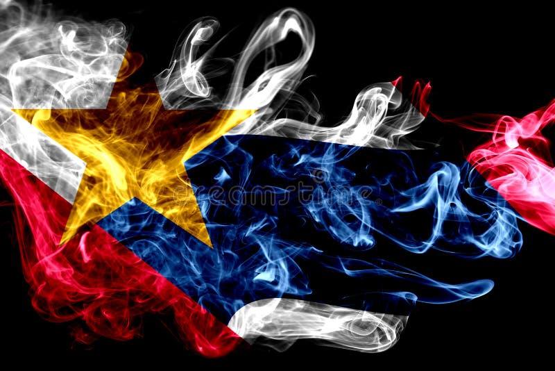 拉斐特市烟旗子,印第安纳状态, Ameri美国  库存例证
