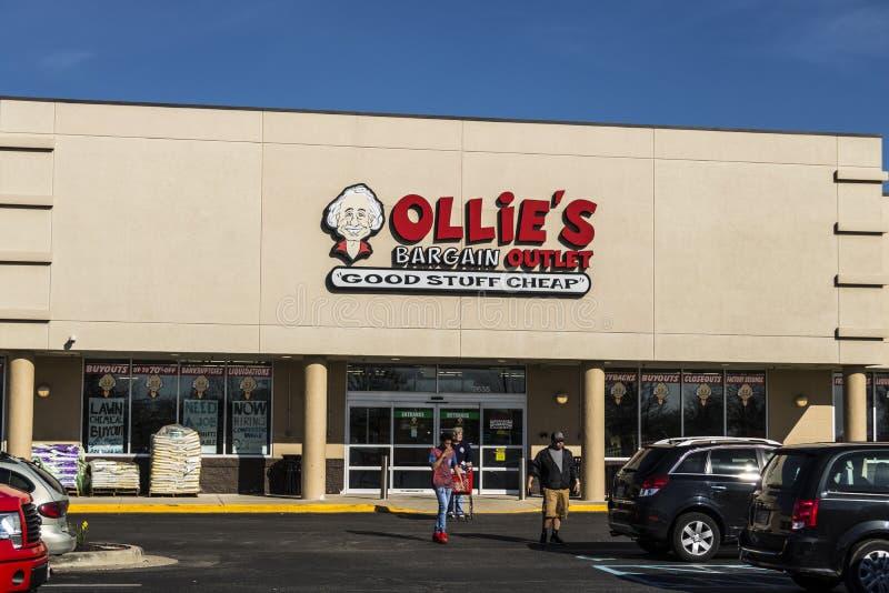 拉斐特-大约2017年4月:奥利` s交易出口 奥利` s运载各种各样的抛售商品IV 库存照片