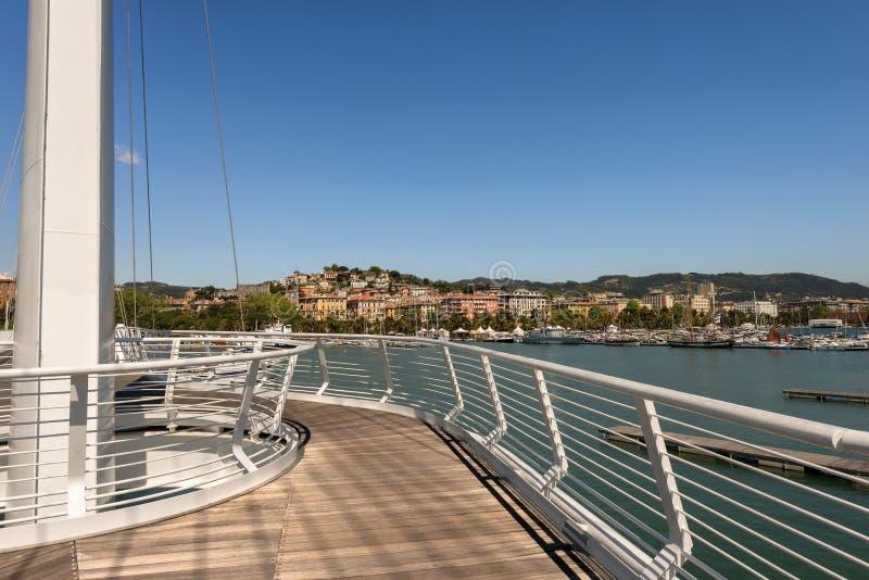 拉斯佩齐亚-利古里亚意大利的都市风景 免版税图库摄影