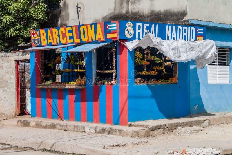 拉斯图纳斯,古巴- 2016年1月27日:水果和蔬菜在拉斯图纳斯失去作用 免版税库存图片