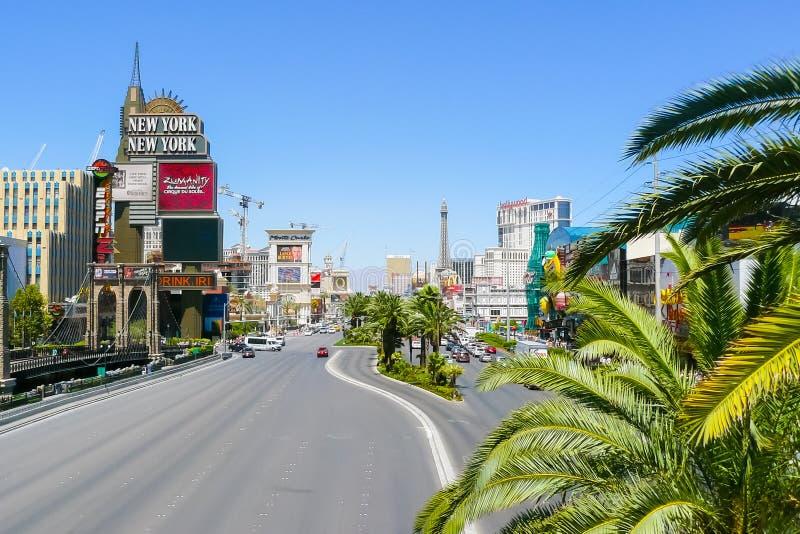拉斯维加斯大道鸟瞰图 免版税库存图片