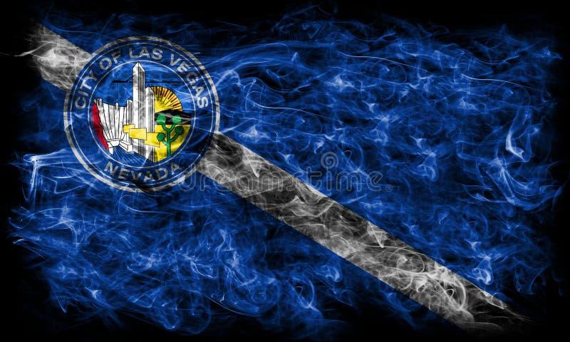 拉斯维加斯市烟旗子,内华达状态, Americ美国  库存照片