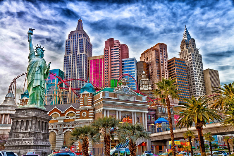 拉斯维加斯纽约纽约 免版税图库摄影