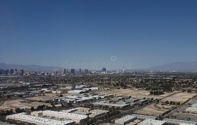 拉斯维加斯,内华达的周围的鸟瞰图  库存照片