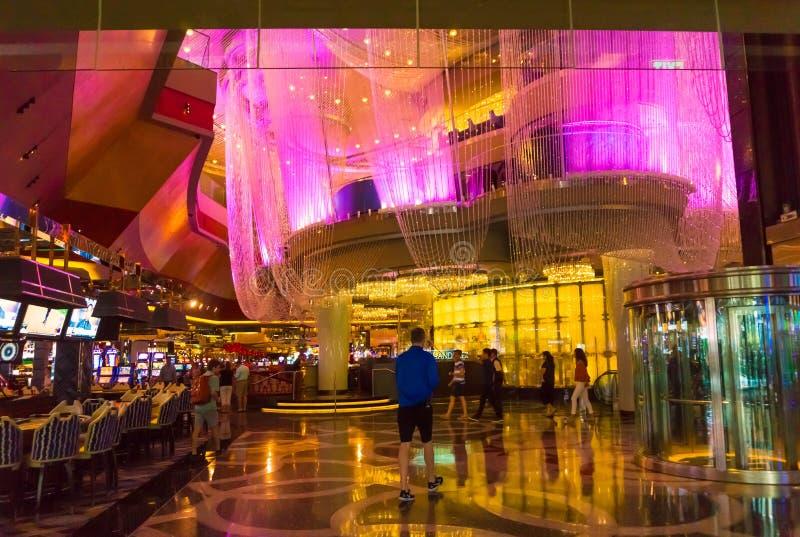 拉斯维加斯,美利坚合众国- 2016年5月06日:在Wynn旅馆和赌博娱乐场的内部 免版税图库摄影