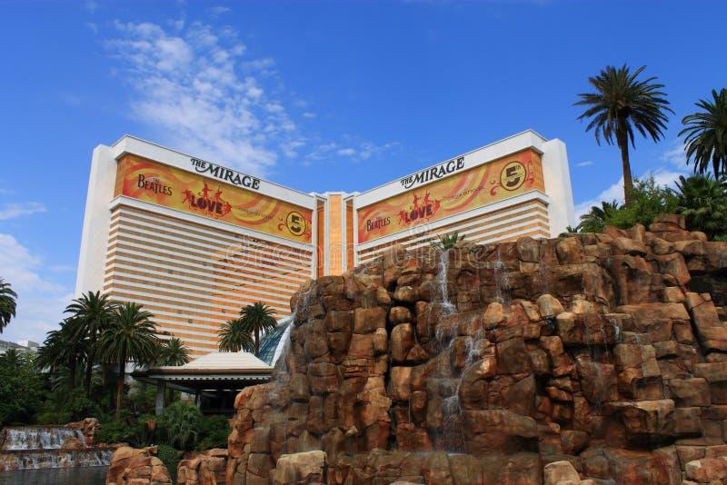 拉斯维加斯-海市蜃楼旅馆和娱乐场 免版税库存图片