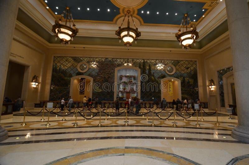 拉斯韦加斯大道,作用大厅,大厅,室内设计,天花板 库存图片