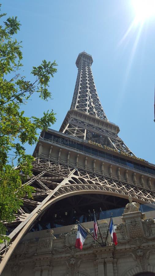 拉斯维加斯埃佛尔铁塔 免版税库存照片