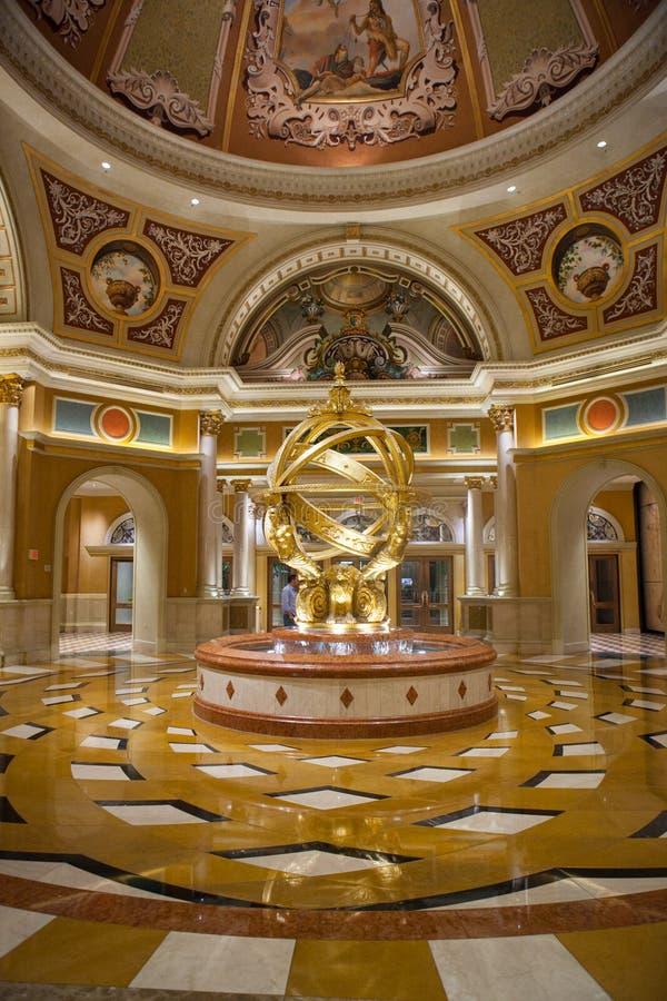 拉斯维加斯旅馆大厅 免版税图库摄影