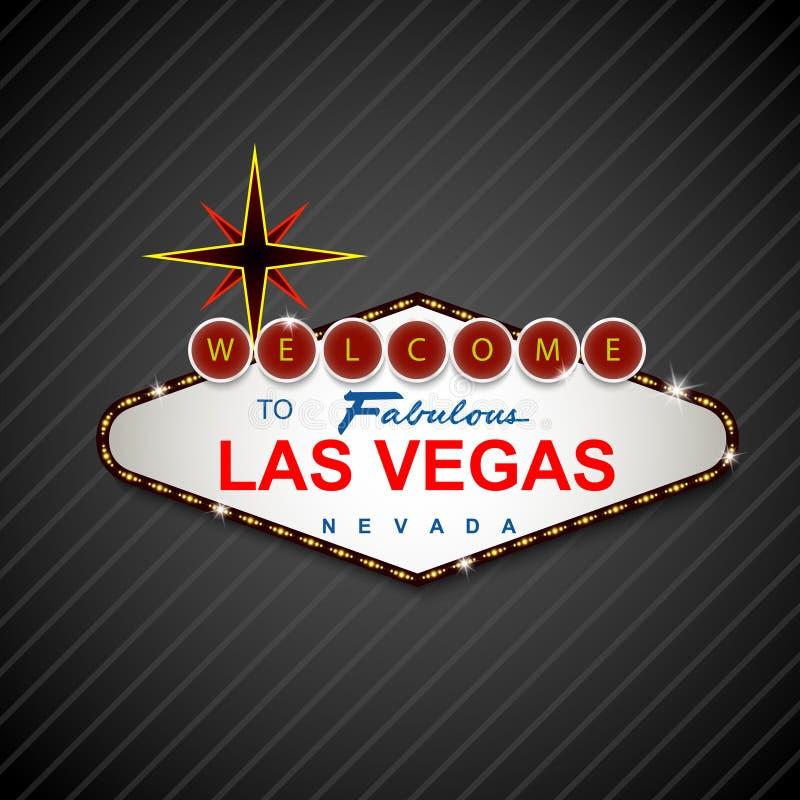 拉斯维加斯赌博娱乐场标志背景 向量例证