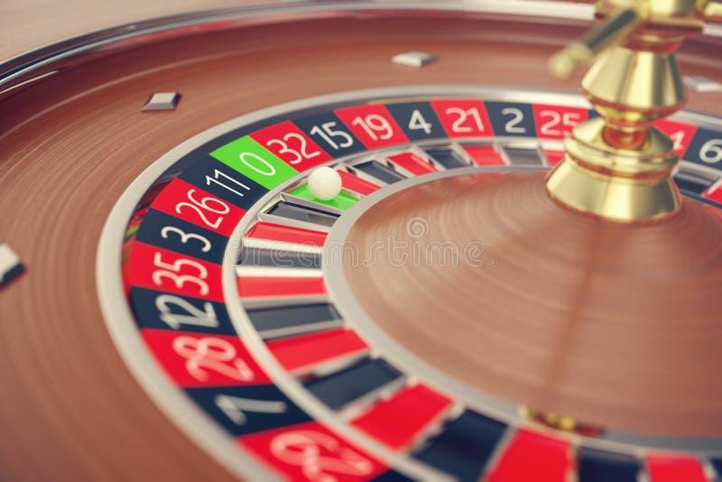 拉斯维加斯赌博娱乐场轮盘赌,赌博娱乐场轮盘赌比赛,赌博娱乐场赌博的概念3D翻译 向量例证