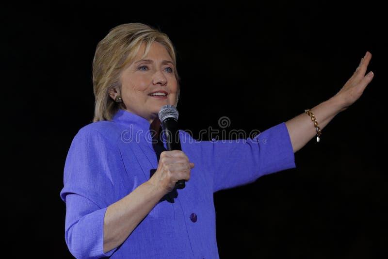 拉斯维加斯, NV - 2015年10月14日:希拉里・克林顿,前U S 国务卿和2016民主党总统候选人, spea 免版税库存图片