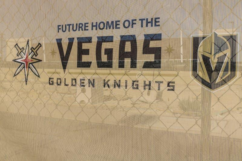 拉斯维加斯-大约2017年7月:维加斯金黄骑士新的实践设施,骑士是最新的NHL扩展队II 免版税库存图片