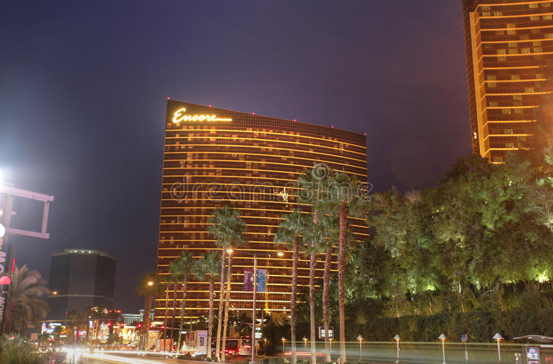 拉斯维加斯- 1月29 :再来一次旅馆和赌博娱乐场1月, 29日, 库存照片