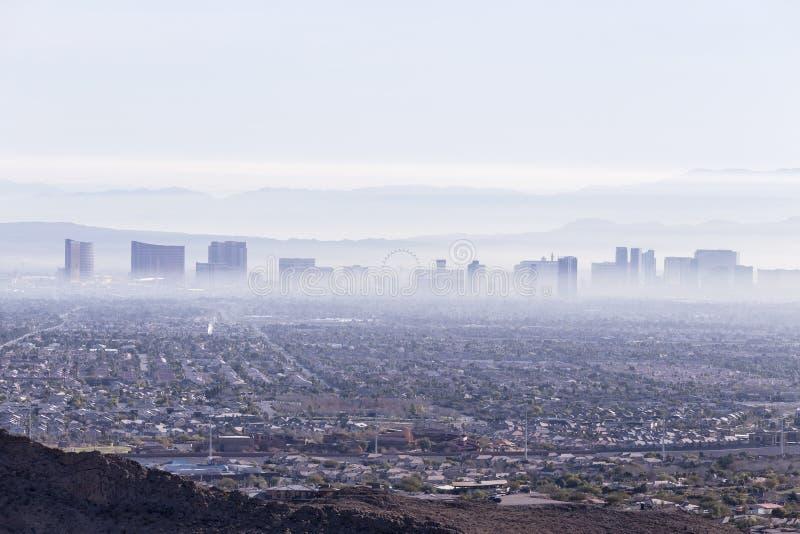 拉斯维加斯阴霾 免版税库存照片