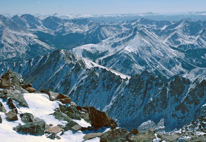 拉普拉塔峰顶,落矶山科罗拉多 图库摄影