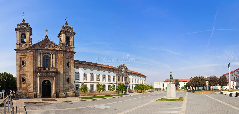 拉格,葡萄牙 Populo教会 矫揉造作者,洛可可式和新古典主义的建筑学 免版税图库摄影