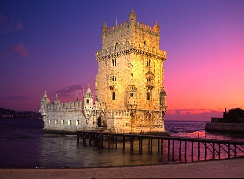 贝拉母,里斯本,葡萄牙塔。 免版税库存照片