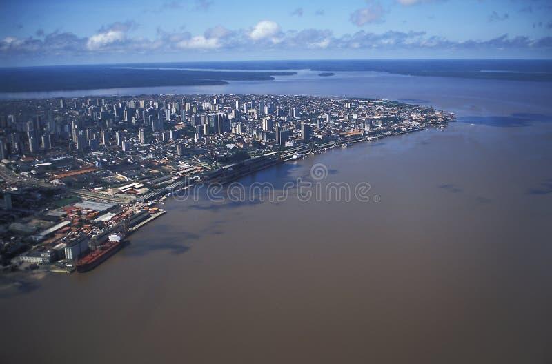 贝拉母,巴西鸟瞰图  免版税库存图片