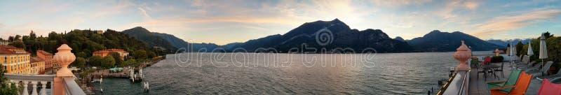 从贝拉焦的科莫湖 库存图片