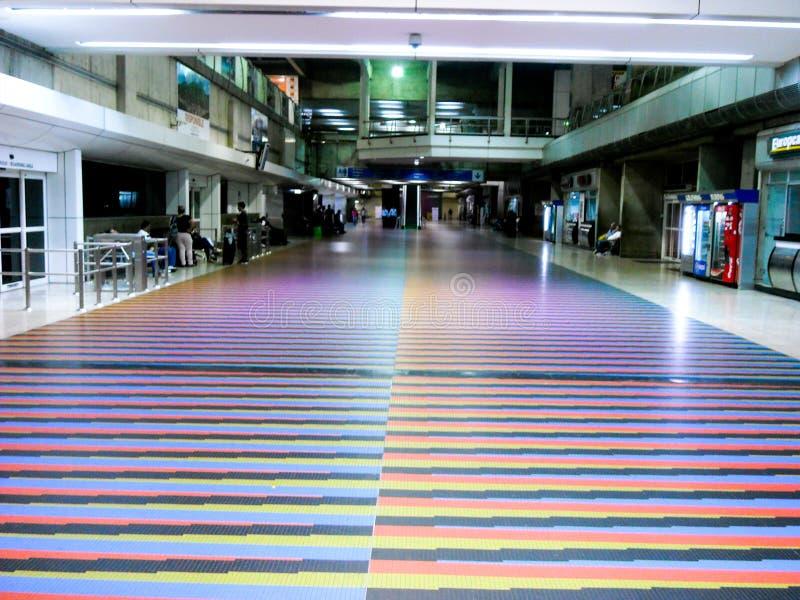 拉瓜伊拉巴尔加斯状态/委内瑞拉08/11/2018国际机场西蒙・波利瓦迈克蒂亚社论 免版税库存照片