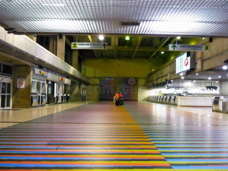 拉瓜伊拉巴尔加斯状态/委内瑞拉08/11/2018国际机场西蒙・波利瓦迈克蒂亚社论 图库摄影