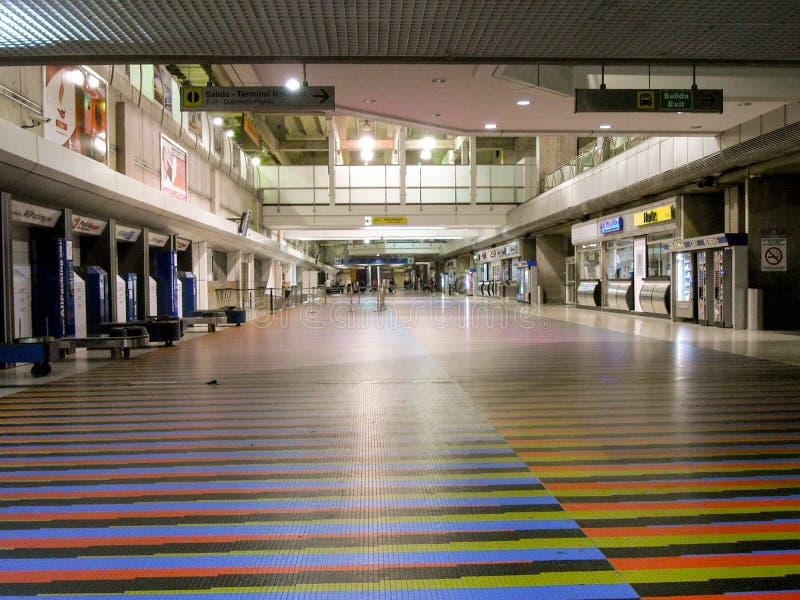 拉瓜伊拉巴尔加斯状态/委内瑞拉08/11/2018国际机场西蒙・波利瓦迈克蒂亚社论 库存图片