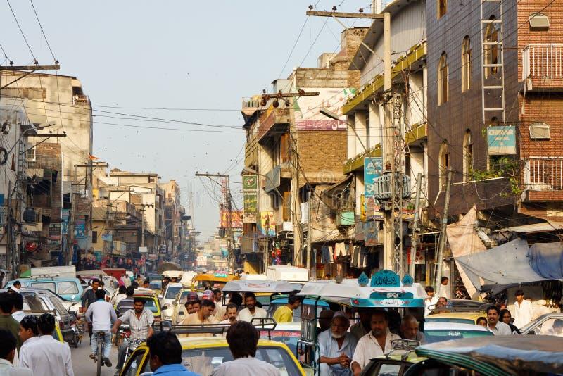 王侯义卖市场在拉瓦尔品第,巴基斯坦 免版税库存图片