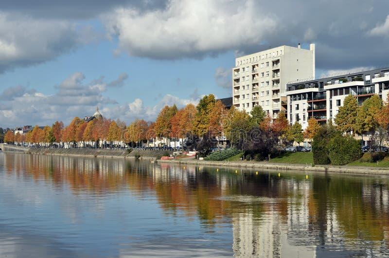 拉瓦尔的河马耶讷省在法国 免版税库存照片