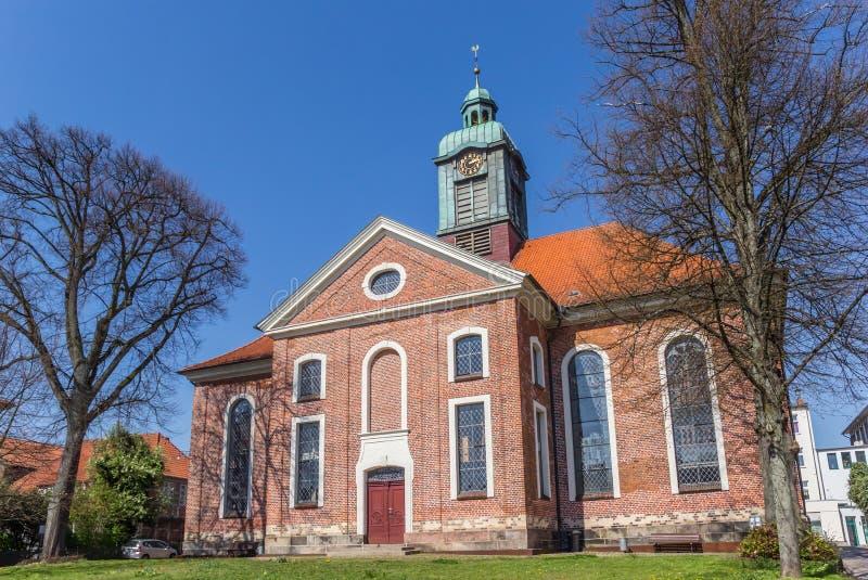 拉策堡中心历史悠久的圣佩特里教堂 库存图片