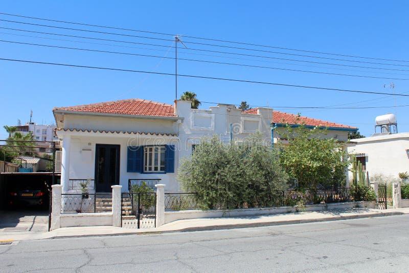 拉纳卡,塞浦路斯城市视图  库存图片