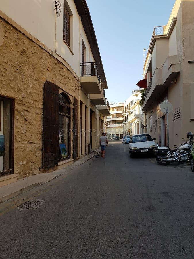 拉纳卡,塞浦路斯街道  库存照片