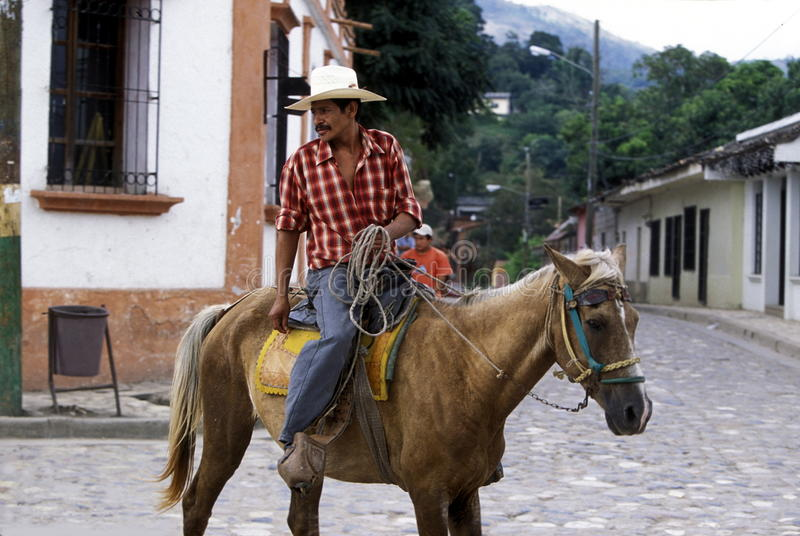 拉美洪都拉斯COPAN 免版税库存照片