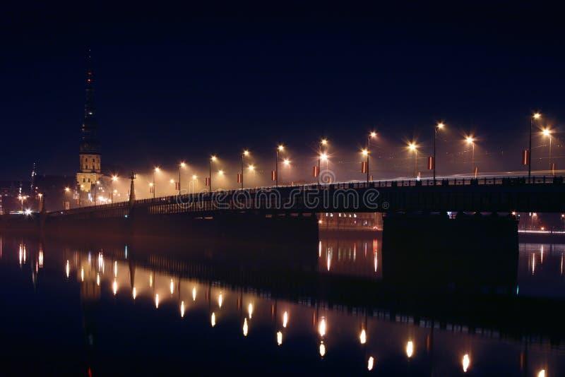 拉脱维亚全景里加 免版税库存照片
