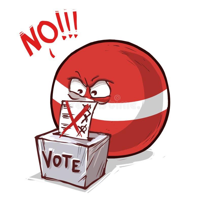拉脱维亚投反对票国家的球 向量例证