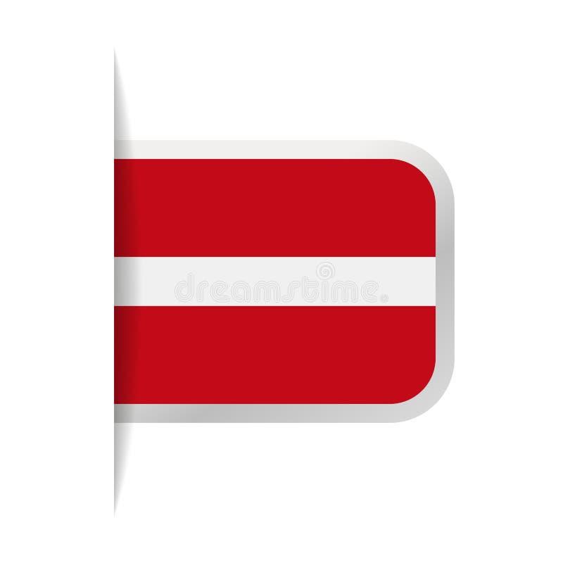 拉脱维亚旗子传染媒介书签象 皇族释放例证