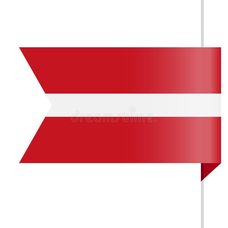 拉脱维亚旗子传染媒介书签象 向量例证