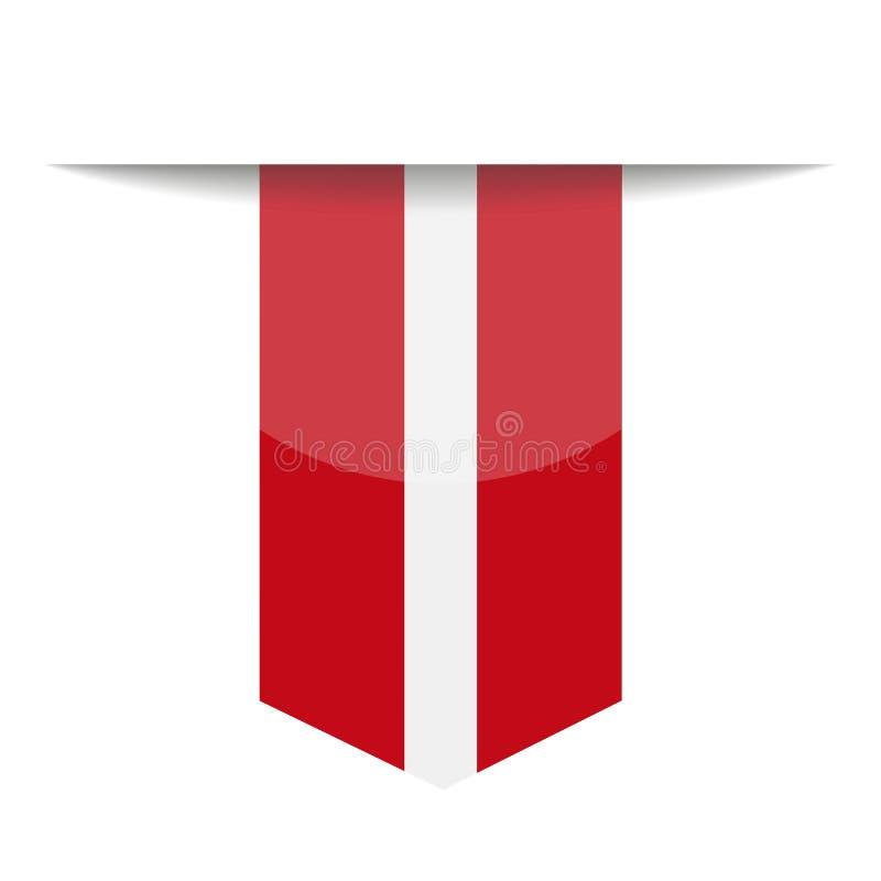拉脱维亚旗子传染媒介书签象 库存例证