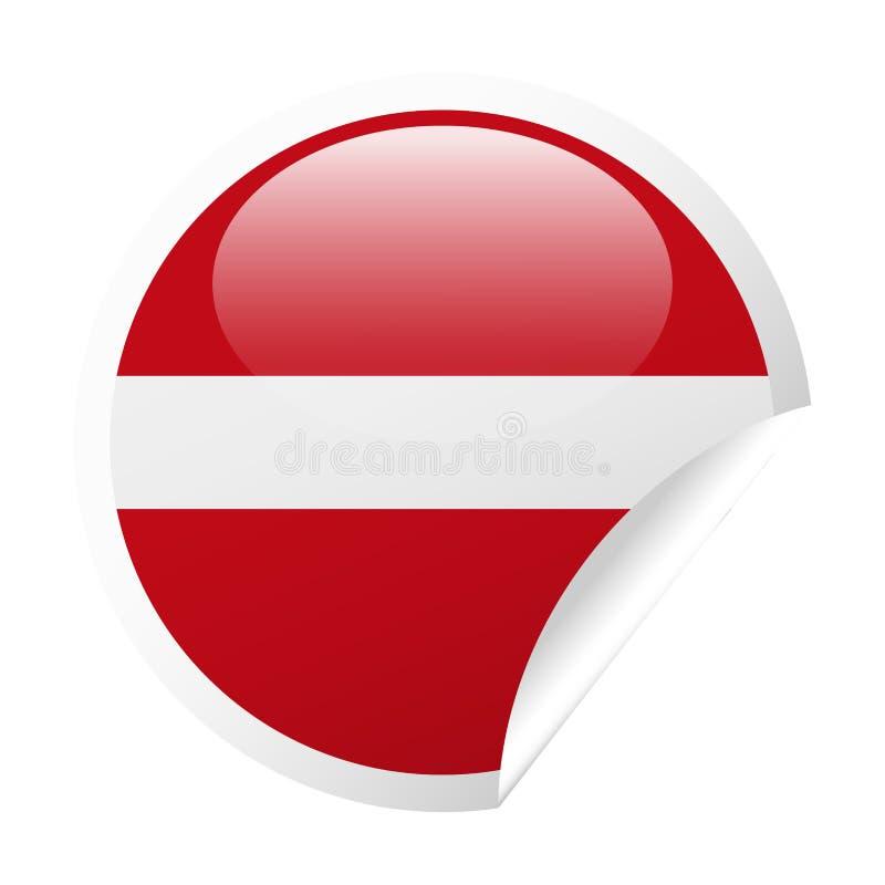拉脱维亚旗子传染媒介圆角落纸象 向量例证