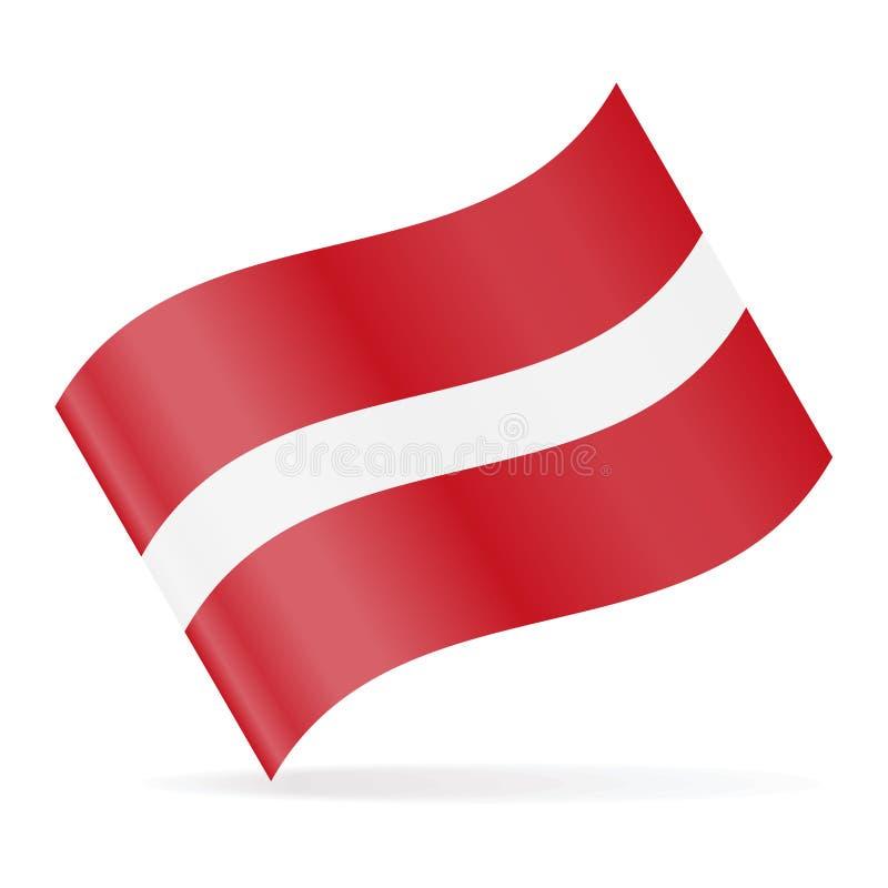 拉脱维亚旗子传染媒介挥动的象 库存例证