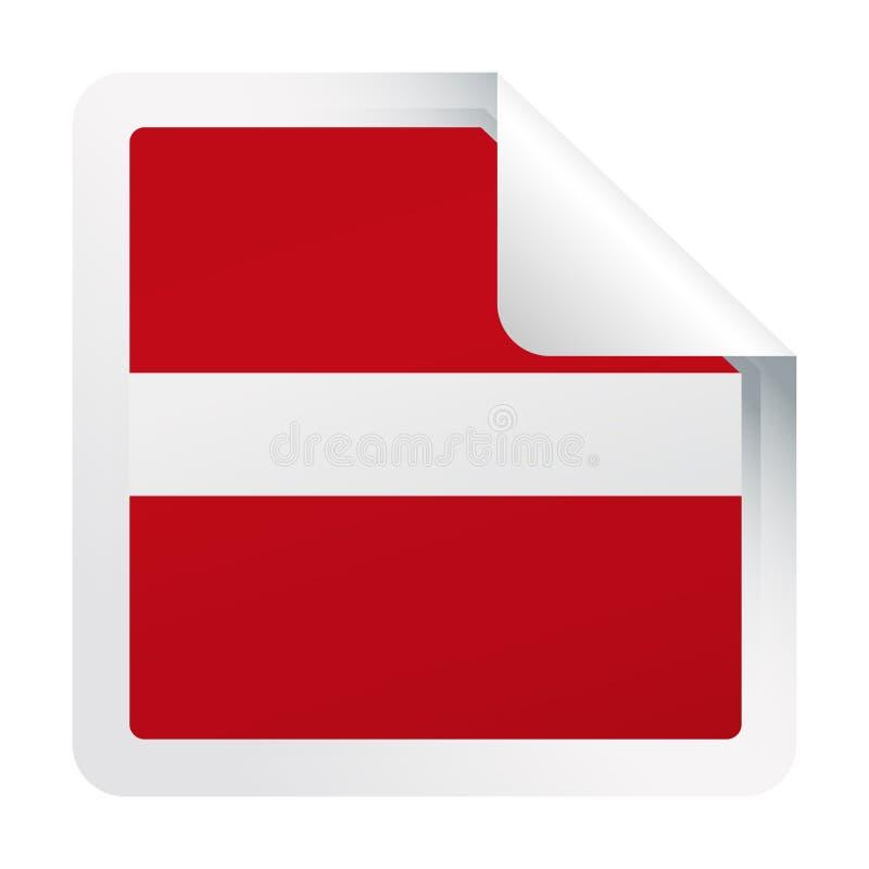 拉脱维亚旗子传染媒介方角纸象 皇族释放例证