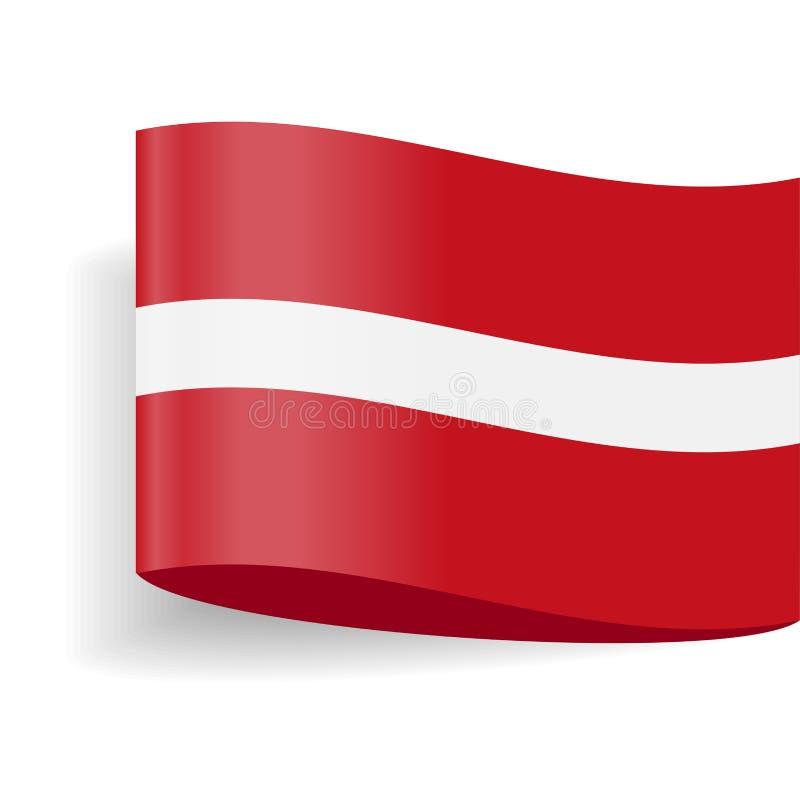 拉脱维亚旗子传染媒介标签标记象 向量例证