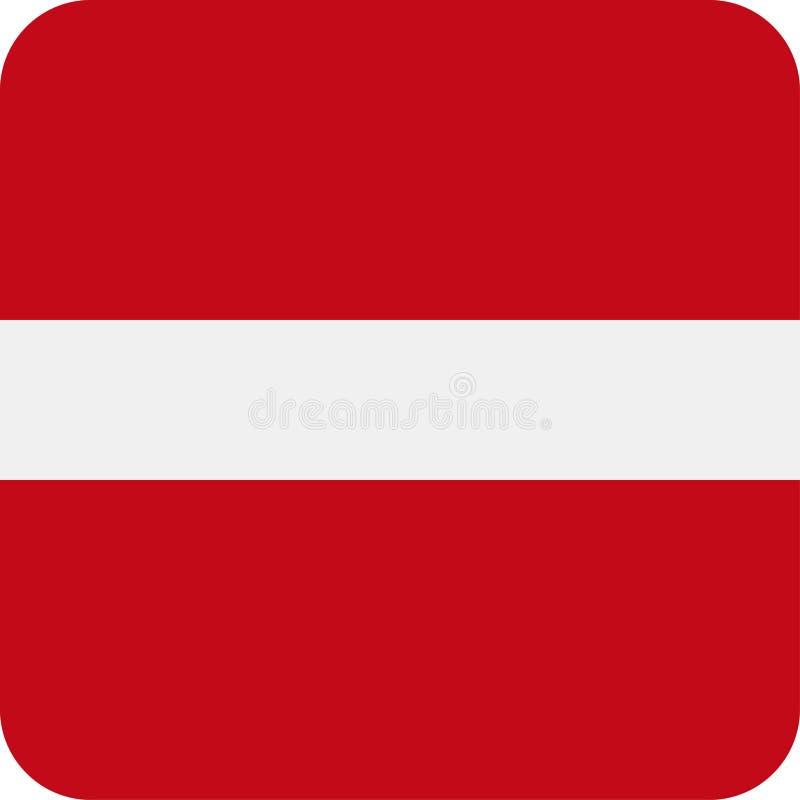 拉脱维亚旗子传染媒介正方形平的象 皇族释放例证