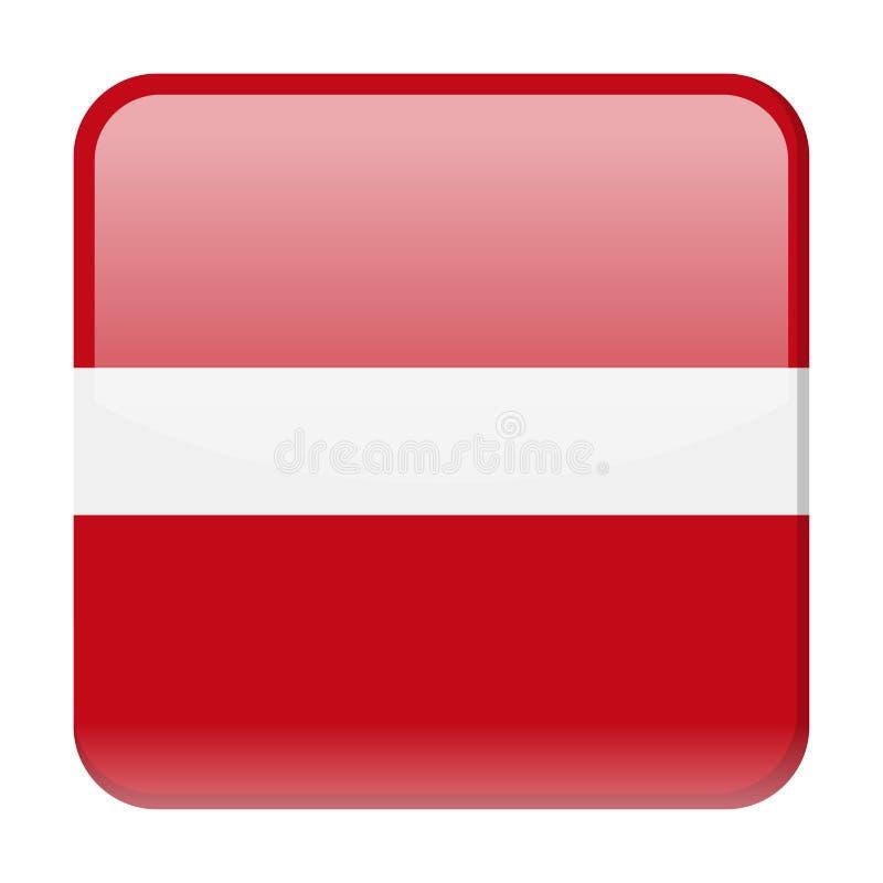 拉脱维亚旗子传染媒介正方形象 向量例证