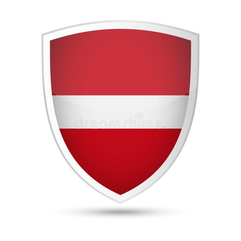 拉脱维亚旗子传染媒介盾象 皇族释放例证