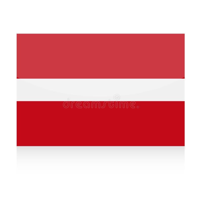 拉脱维亚旗子传染媒介象 库存例证