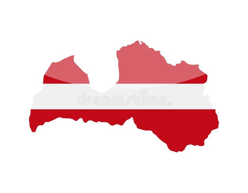 拉脱维亚旗子国家等高传染媒介象 皇族释放例证