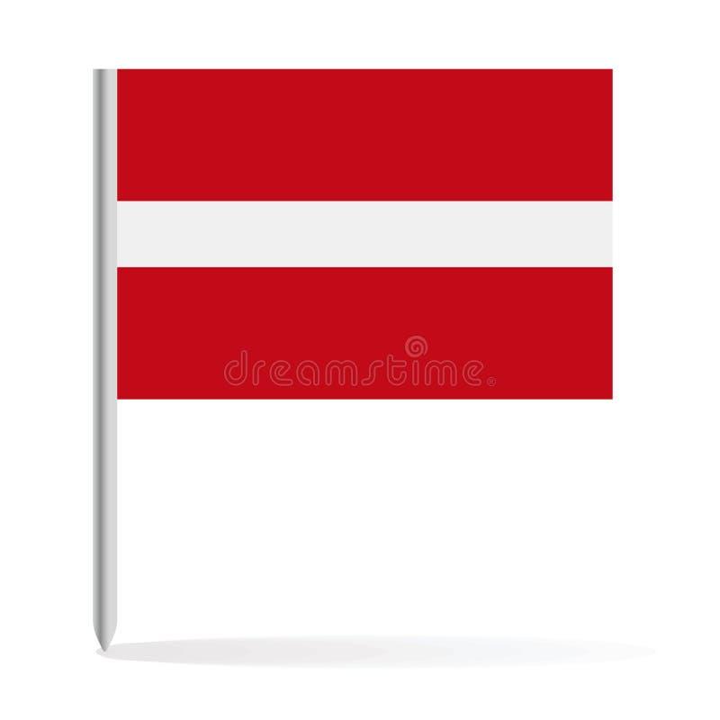 拉脱维亚旗子Pin传染媒介象 向量例证