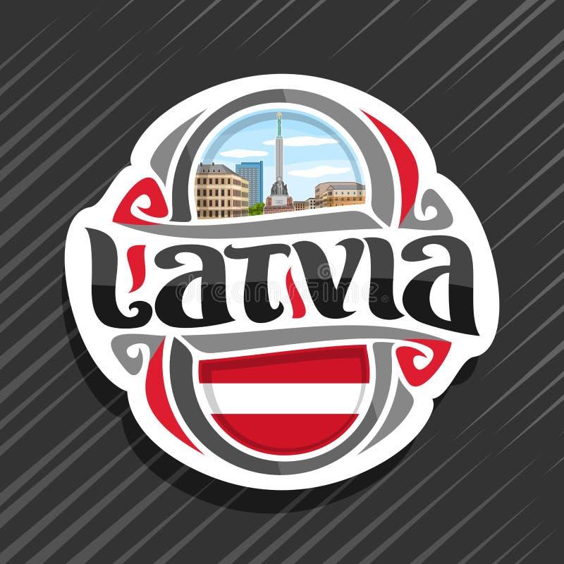 拉脱维亚的传染媒介商标 皇族释放例证