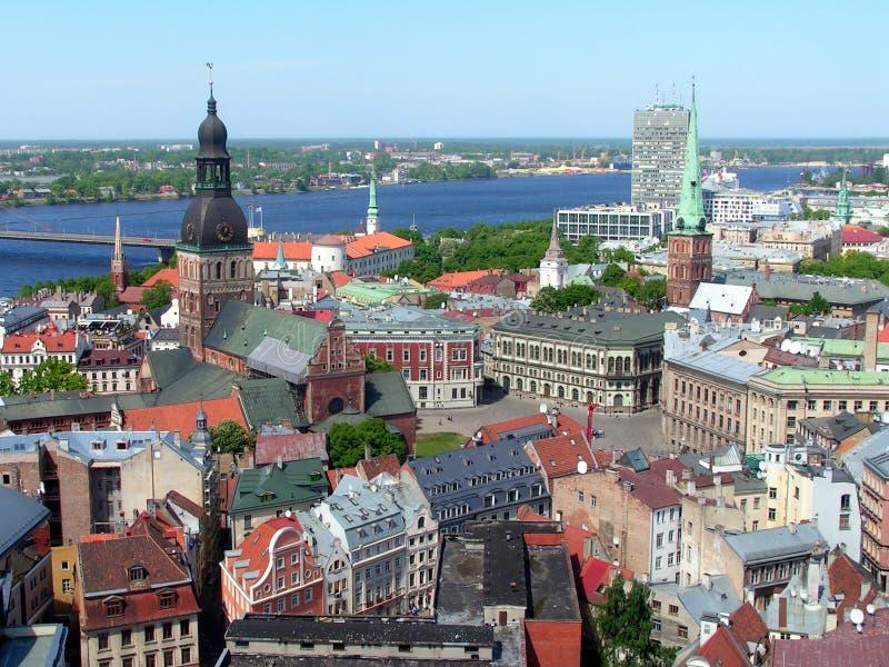 拉脱维亚老里加城镇 库存图片